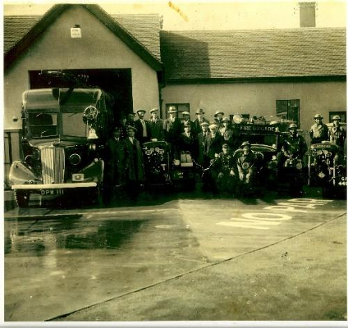 09061001 Offical opening of Priory Rd. Firestation c.1936 now the Heritage Centre