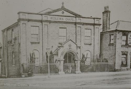 186Wesleyan Methodist Chapel Cannon Square Lynn Rd. D.Mktnow private housing