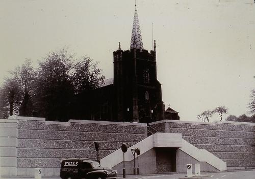 475          St. Edmunds Parish Church showing the completed wall post 1966