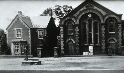 363      Primitive Methodist Chapel with the water pump in front both now demolished