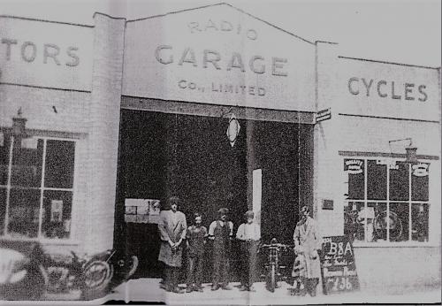 09008001      Radio Garage c1926 Owner and Son Owen and Lawrence Pleasance Lynn Rd, D.Mkt.