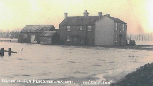 Feltwell flood 1915 Ship Inn