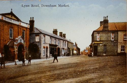 127 Cannon Rd. showing Wesleyan Chapel on the left Chequers on the right